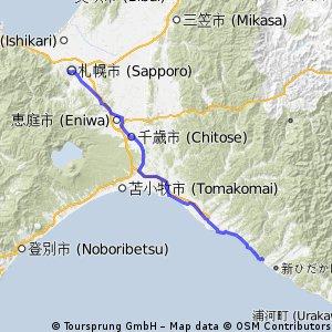 北海道 Day01: 札幌 -> 判官館森林公園露營場(新冠)