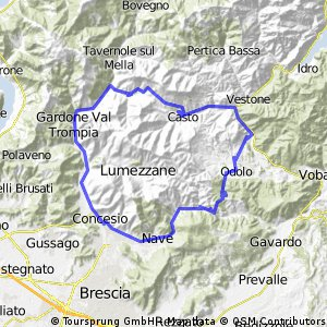 tour lodrino 70 km