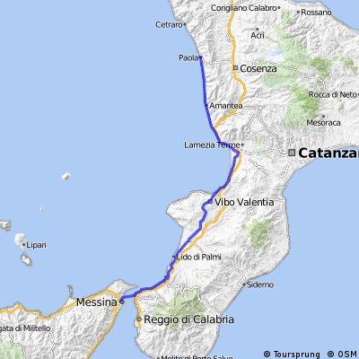 Herisau Sizilien 9. Etappe Paola - Messina