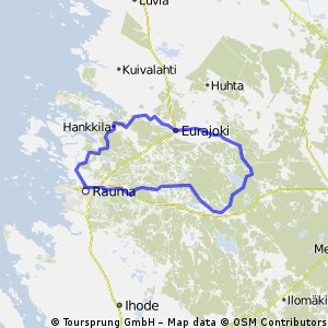 Cycling routes and bike maps in and around Rauma Bikemap Your