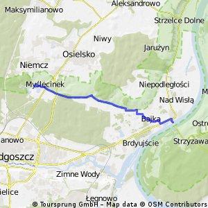 Most na Wiśle -  Myślęcinek