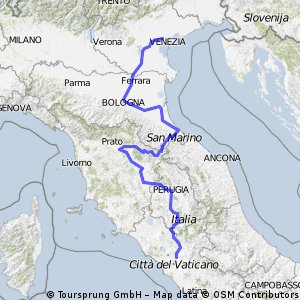 Italy tour by car