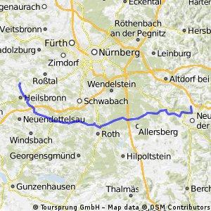 Loderbach - Böllingsdorf übers Aurachtal