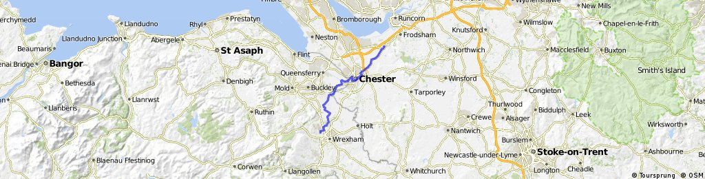 Helsby to Wrexham - River Dee Cycleway