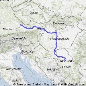 Belgrad - Passau (Flug), 1200km, 2011-08-15