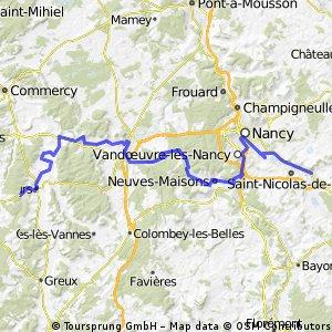 11. Montigny-Les-Vaucouleurs (F) - Nancy (F) - Dombasle-Sur-Meuthe (F)