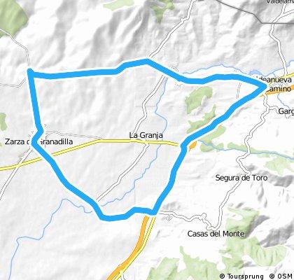 Abadia - Aldeanueva - Zarza - Abadia 18-8-11