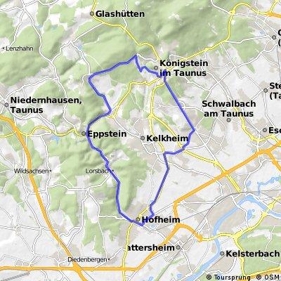 Bad Soden - Königstein - Hofheim - Bad Soden Rundtour