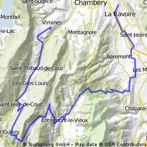 La Ravoire - Vimines par le Col du Granier - 55km