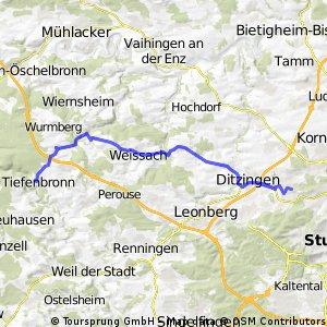 Stuttgart  Weissach  Tiefenbronn