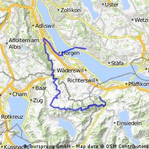 Schindellegi - Gottschalkenberg - Gubel - Menzingen - Sihltal - Gattikon - Thalwil - Fähre Horgen-Meilen - Uetikon