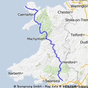 Wales - south to north