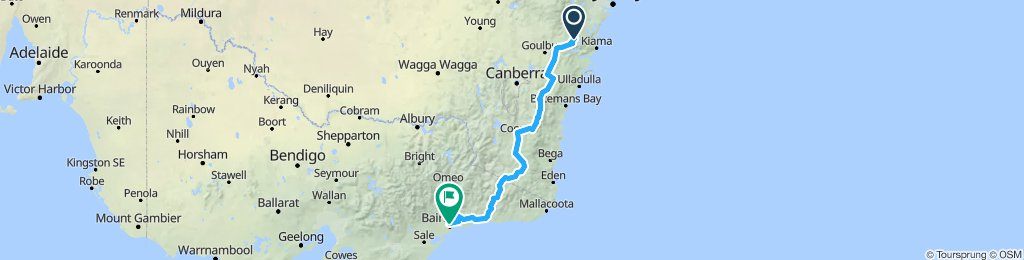 Moss Vale to Bairnsdale