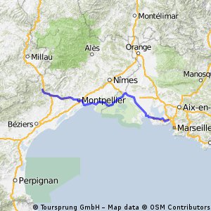 Tour de France Etappe Lodeve - Marseille