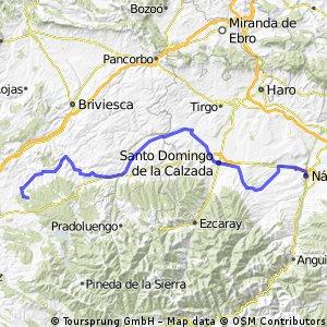 Jakobsweg per Rad Etappe 4: Nájera – San Juan de Ortega (89,7 km) CLONED FROM ROUTE 446477