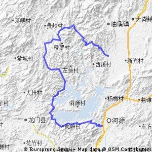 环新丰江水库(万绿湖)