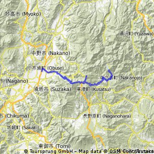 20110812 野反湖 - 渋峠 - 小布施