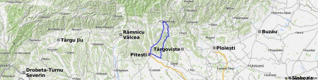 Pitesti - Topoloveni - Tiganesti - Candesti - Stoenesti - Mioveni - Valea Mare - Pitesti