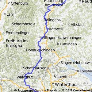 Zürich-Tübingen-Tälertour(Limat,Aare,Wutach,Brigach,Neckar)