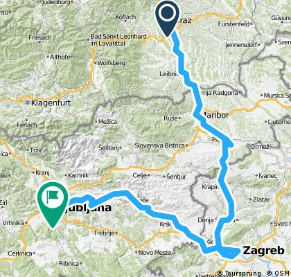 Graz Maribor Zagreb Ljubljana Bikemap Your Bike Routes