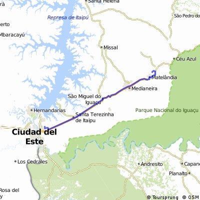 Foz do Iguaçu (Vila A) - Matelândia (Circuito Sabiá)