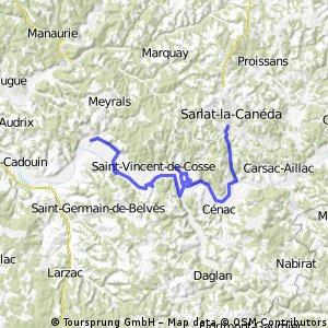 Údolí řeky Dordogne