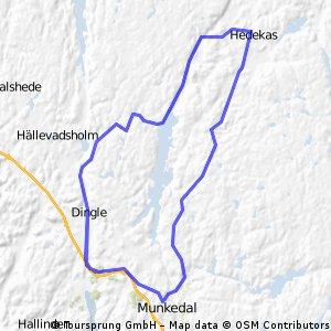 Hedekas-Munkedal und zurück