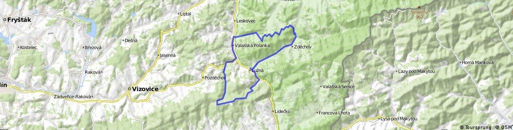 Valašská Polanka - Trubiska - Lužná - Zděchov - Valašská Polanka