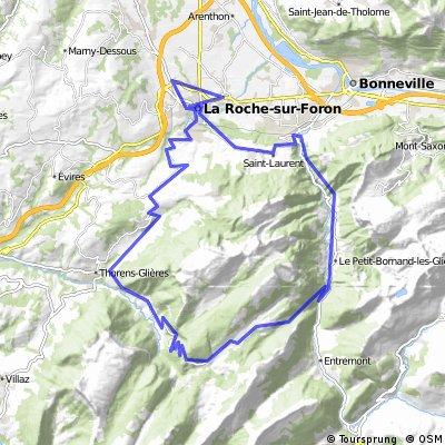 Col des Glières Loop via Steep East Side