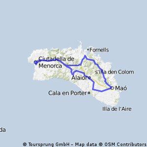 Mao-Fornells-Ciutadella-Es migjorn-Torralba-St. Climent-Mao