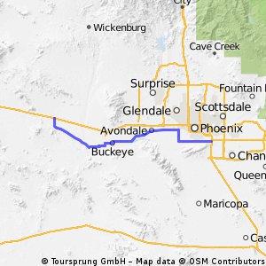 Tempe, AZ - Tonapah, AZ
