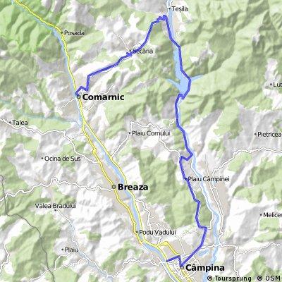 Comarnic - Secaria - Doftana - lac Paltinu - lac mic - Sotrile - Campina