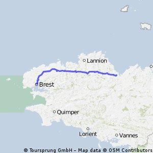 V stage 22 ..... St Brieuc - Brest 13 Sept 2012