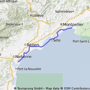 ZK stage 38 .....Gruissan - la Grand Motte 3 Oct 2012