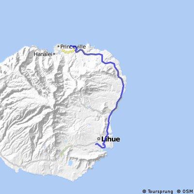 Kauai East Route 2 100km