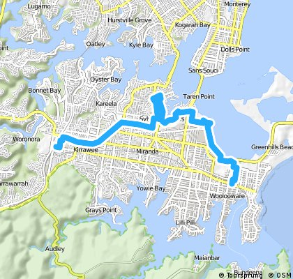 Woolooware to Sutherland