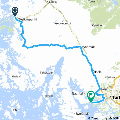 Cycling routes and bike maps in and around Uusikaupunki Bikemap