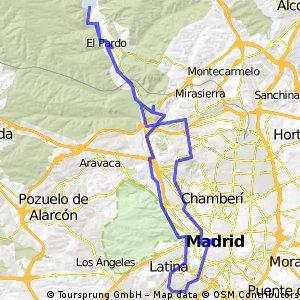 Madrid -El Pardo volviendo por Sol