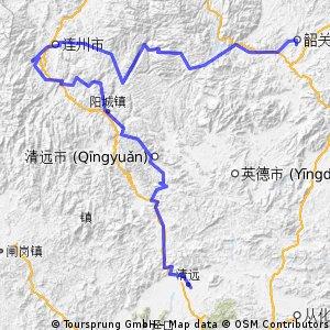 广东省清远到韶关市