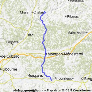 Ride Day 2—9 Sept 2005—16210 Saint Romain to 33220 Ste Foy La Grande