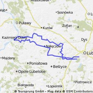 Lublin - Kazimierz Dolny (przez Wąwolnice) - Lublin
