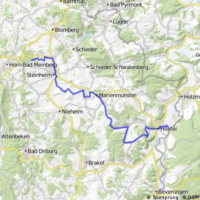 Tagestour - Radhotel Corvey -> Hotel Entenkrug
