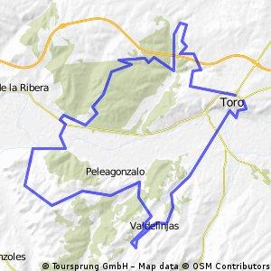 Ruta completita por los alrededores de Toro