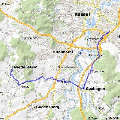 Mein Arbeitsweg Niedenstein-Lohfelden
