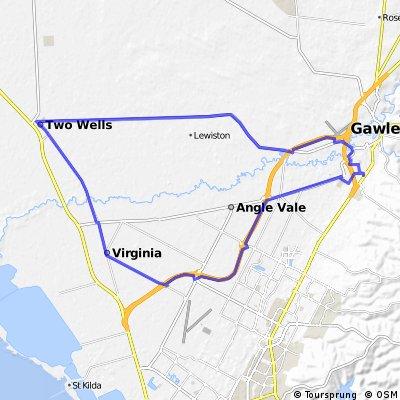 Gawler Wheelers-ROUTE20C-Gawler-Two Wells-Virginia-Gawler-FLAT