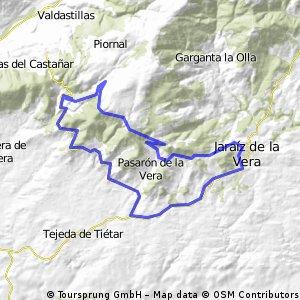 Jaraiz-Alto de Barrado y vuelta