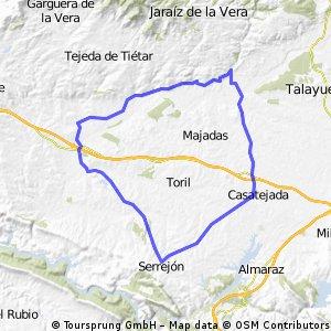 65 kms llanos Valdeíñigos-Casatejada-Serrejón