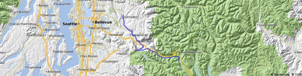 Carnation to Cle Elum... across Snoqualmie Pass