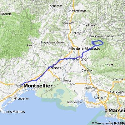 Montpellier - Bédoin