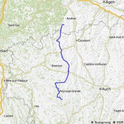 Ride Day 5—12 Sept 2005—47170 Mézin env. Nérac to 32320 Bassoues